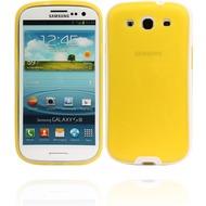 Twins White Edge für Samsung Galaxy S3, gelb
