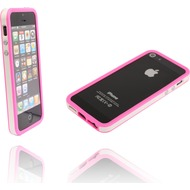 Twins 2Color Bumper für iPhone 5/ 5S/ SE, weiß-pink