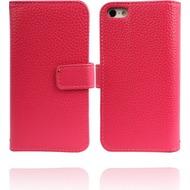 Twins Premium BookFlip Leather für iPhone 5/ 5S/ SE, pink