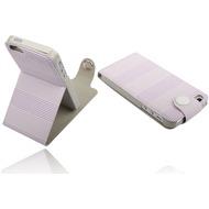 Twins Striped Flip-Flap für iPhone 5/ 5S/ SE, lila
