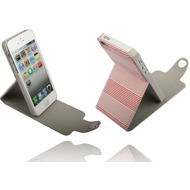 Twins Striped Flip-Flap für iPhone 5/ 5S/ SE, rot