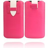 Twins Flap Pouch für iPhone 5/ 5S/ SE, pink-weiß