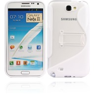 Twins Convenience für Samsung Galaxy Note 2, weiß-transparent