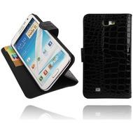 Twins BookFlip Croco für Samsung Galaxy Note 2, schwarz