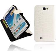 Twins BookFlip Croco für Samsung Galaxy Note 2, weiß