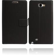 Twins Premium BookFlip Leather für Samsung Galaxy Note 2, schwarz