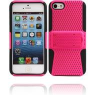 Twins Standing Guard für iPhone 5/ 5S/ SE, schwarz-pink