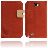 Twins BookFlip Smooth für Samsung Galaxy Note 2, rot-braun