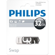 Philips USB 2.0 Stick 32GB - Vivid Edition - White - Grey (R) 14MB/ s - (W) 3MB/ s