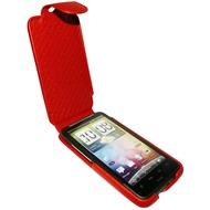 Piel Frama iMagnum Echtledertasche für HTC Desire HD, rot
