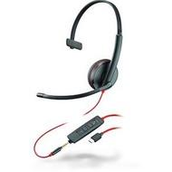 Plantronics Headset Blackwire C3215 monaural USB-C & 3,5 mm