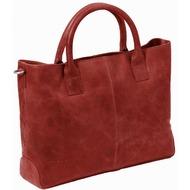 Plevier 700er Serie spieziell für Damen Laptoptasche Leder 42 cm Laptopfach rot