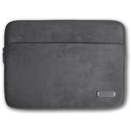 PORT Designs Milano Sleeve für Notebooks 13/ 14 Zoll, aus Velour /  Neopren mit Zubehörfach, grau