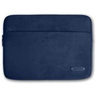 PORT Designs Milano Sleeve - Microfaser- /  Neoprenhülle mit ZubehörfTach für 13/ 14 Zoll Notebooks, blau