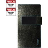 reboon booncover Smartphone Ledertasche - Apple iPhone SE/ 5S/ 5C/ 6S/ 7 - Größe XS - schwarz