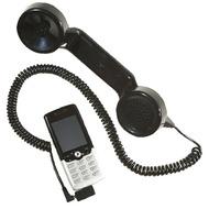 Retrostar Telefonhörer fürs Handy, schwarz inkl. Adapter Siemens 1