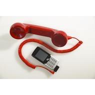 Retrostar Telefonhörer fürs Handy, rot inkl. Adapter Siemens 1
