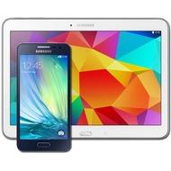 Samsung A300F Galaxy A3 (midnight-black) mit Galaxy Tab 4 10.1 16 GB (WiFi), weiß