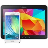 Samsung A300F Galaxy A3 (pearl-white) mit Galaxy Tab 4 10.1 16 GB (WiFi), schwarz