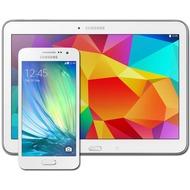 Samsung A300F Galaxy A3 (pearl-white) mit Galaxy Tab 4 10.1 16 GB (WiFi), weiß