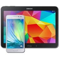 Samsung A300F Galaxy A3 (platinum-silver) mit Galaxy Tab 4 10.1 16 GB (WiFi), schwarz