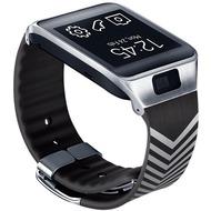 Samsung Armband für Gear 2/ 2 Neo Kirkwood Schwarz Silber Chevron