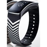 Samsung Armband - Gear FIT Kirkwood, Schwarz Silber Chevron