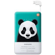 Samsung externer Akkupack 11.300 mAh 2A Micro-USB-Kabel/ USB-Port, green, Panda