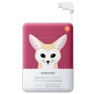 Samsung externer Akkupack 8.400 mAh 2A Micro-USB-Kabel/ USB-Port pink Fox
