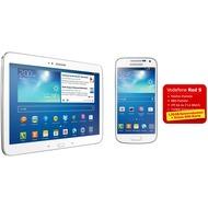 Samsung Galaxy S4 mini, weiß + Galaxy Tab3 10.1 16GB (UMTS), weiß (Vodafone)