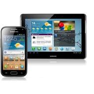 Samsung Galaxy Ace 2, onyx-black + Galaxy Tab2 10.1 16GB (UMTS), titanium-silber