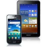 Samsung Galaxy S Plus, metallic black + Galaxy Tab 7.0 Plus N (UMTS), metallic gray