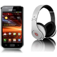Samsung Galaxy S Plus, metallic black (Vodafone Edition) + Monster Beats Solo, weiß (HTC ControlTalk)