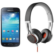 Samsung Galaxy S4 mini, Black Mist (Telekom) + Jabra Stereo Headset REVO, schwarz