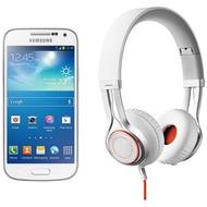 Samsung Galaxy S4 mini, White Frost (Telekom) + Jabra Stereo Headset REVO, weiß