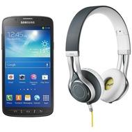 Samsung Galaxy S4 Active, grau (Telekom) + Jabra Stereo Headset REVO, grau