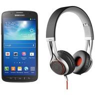 Samsung Galaxy S4 Active, grau (Telekom) + Jabra Stereo Headset REVO, schwarz