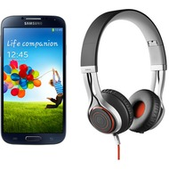 Samsung Galaxy S4 LTE+ 16GB, schwarz (Telekom) + Jabra Stereo Headset REVO, schwarz