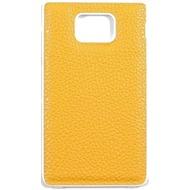 Samsung Kunstleder Akkudeckel für i9100 Galaxy S2, gelb
