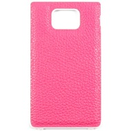 Samsung Kunstleder Akkudeckel für i9100 Galaxy S2, pink