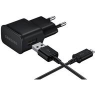 Samsung Micro-USB-Ladekabel + Adapter, 2A, schwarz