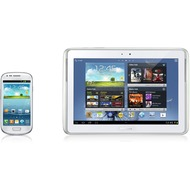 Samsung N8000 Galaxy Note 10.1 16GB (UMTS), weiß + Galaxy S3 mini, marble white NB