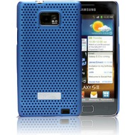Made for Samsung Schutzschale metal look für i9100 Galaxy S2, blau