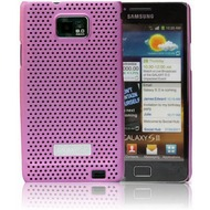 Made for Samsung Schutzschale metal look für i9100 Galaxy S2, pink