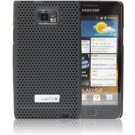 Made for Samsung Schutzschale metal look für i9100 Galaxy S2, schwarz