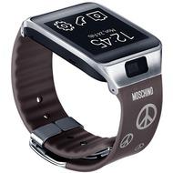 Samsung Standard Armband Gear 2/  Gear 2 Neo, Moschino Silber Peace