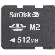 Sandisk Memory Stick Micro M2 mit MS Pro Duo Adapter, 512MB