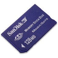 Sandisk Memory Stick Duo, 128 MB