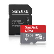 Sandisk Ultra Android 32GB microSDHC SD Adapter und Memory Zone Android App 80MB/ s Class10 UHS-I