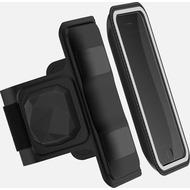 Shapeheart Sportarmband L mit Herzfrequenzmesser, 6,2, schwarz